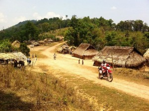Motorbike travel and tours through Laos