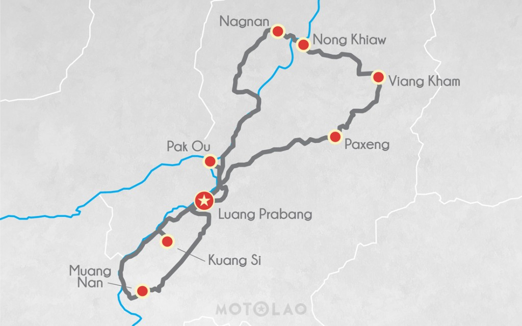 MTO-3-A Motorbike map 3 day tour beginner
