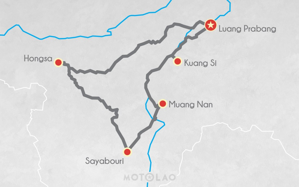 MTO-3-B map 3 day motorbike tour
