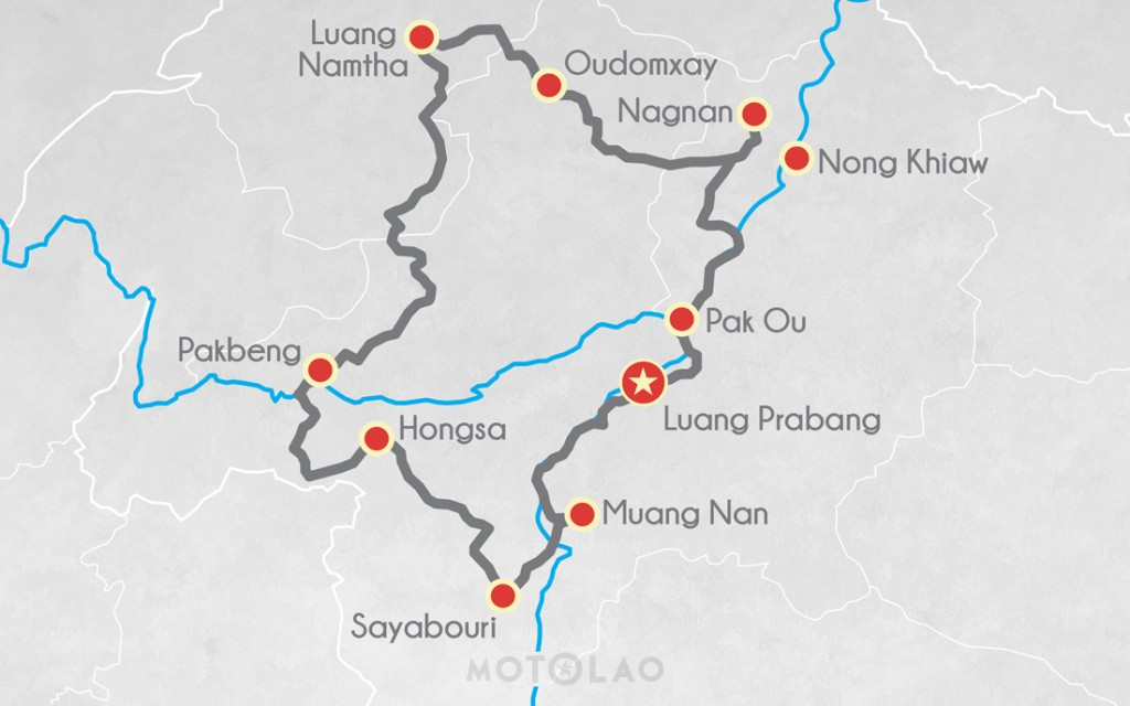 MTO-5-A motorbike map 5 day tour