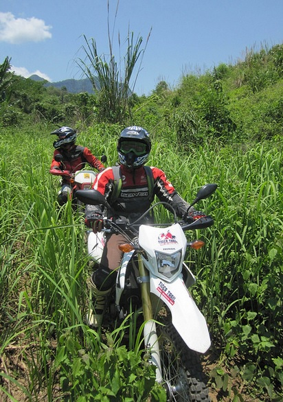 reserve a motorbike tour offroadlaos